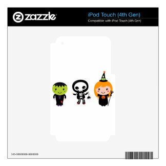 Designers little cute Halloween creatures Skin For iPod Touch 4G