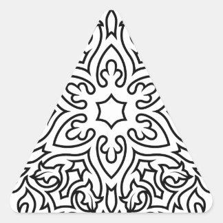 Designers mandala black and white triangle sticker