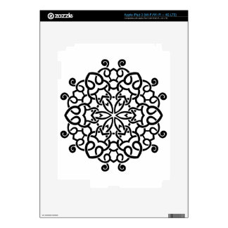 Designers mandala collection : black beige decal for iPad 3