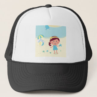Designers mare girl with Sea star Trucker Hat