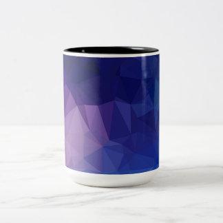 Designers mug with purple triangles