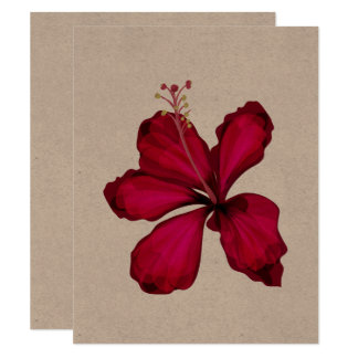 Designers paper greeting with Hawaii flower Card