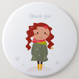 """Designers plastic button : """"Thank you"""""""