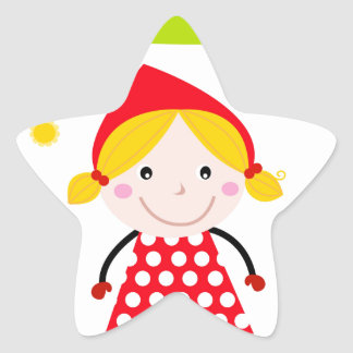 Designers red riding hood Edition Star Sticker