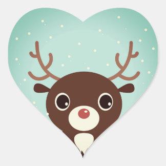 Designers sticker with cute Reindeer