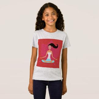 Designers t-shirt Grey with Yoga girl