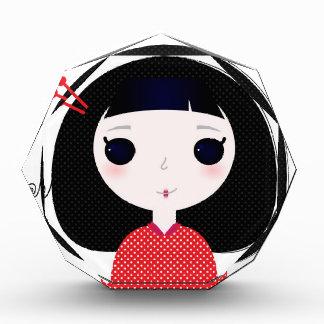 Designers t-shirt with Japan cute girl Award