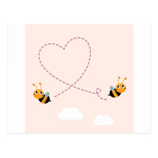 DESIGNERS t-shirt with Love bees Postcard