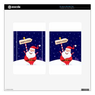 Designers t-shirts : Santa edition Kindle Fire Skins