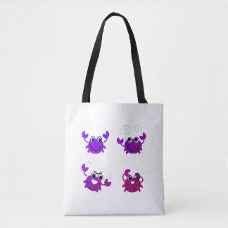 Designers tote bag with Exotic Crab