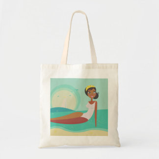 Designers tote bag with Mare lady