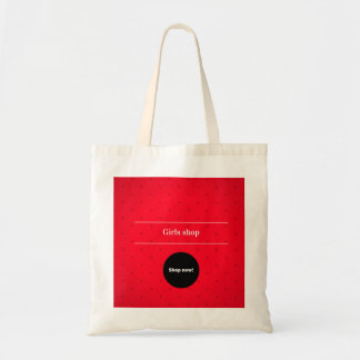 Designers Tote bag with Old vintage typography RED