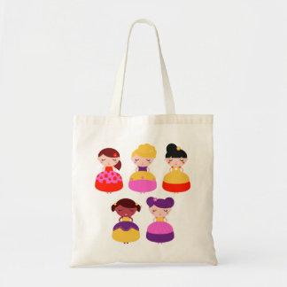 Designers tote bag with Princess