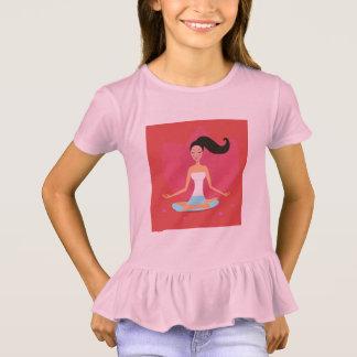 Designers tshirt pink with Yoga girl