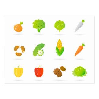 Designers tshirt with Bio handdrawn Fruit Postcard