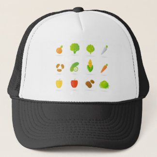 Designers tshirt with Bio handdrawn Fruit Trucker Hat