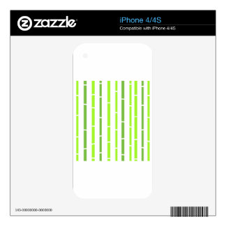 Designers tshirt with Green bamboo iPhone 4S Decals