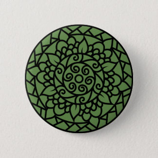 Designers vintage button : black with green