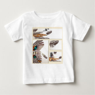 Designers white tshirt with Feathers