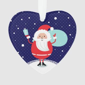Designers winter Heart with Santa Ornament