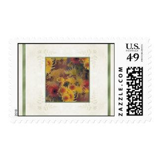 Designs by Judith Heath ~ Chrysanthemums Postage Stamp