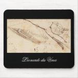 Designs for a Boat by Leonardo Da Vinci Mousepad