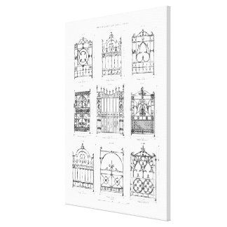 Designs for cast-iron gates, from 'Macfarlane's Ca Canvas Print