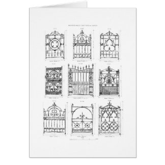 Designs for cast-iron gates, from 'Macfarlane's Ca Card