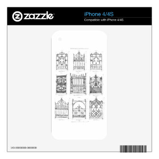 Designs for cast-iron gates, from 'Macfarlane's Ca iPhone 4 Decal