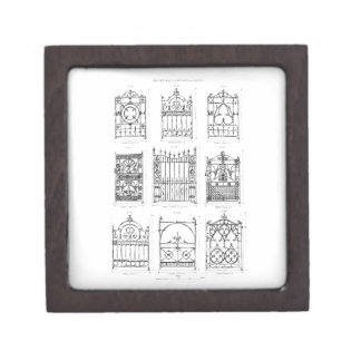 Designs for cast-iron gates, from 'Macfarlane's Ca Jewelry Box
