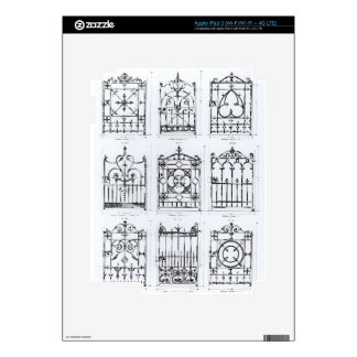 Designs for cast-iron railings from Macfarlane s Decals For iPad 3