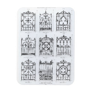 Designs for cast-iron railings, from 'Macfarlane's Magnet
