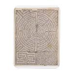 Designs for mazes, from 'The Dutch Gardener' by Jo Rectangular Photo Magnet