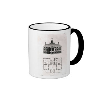 Designs of Inigo Jones, 1727 Ringer Coffee Mug
