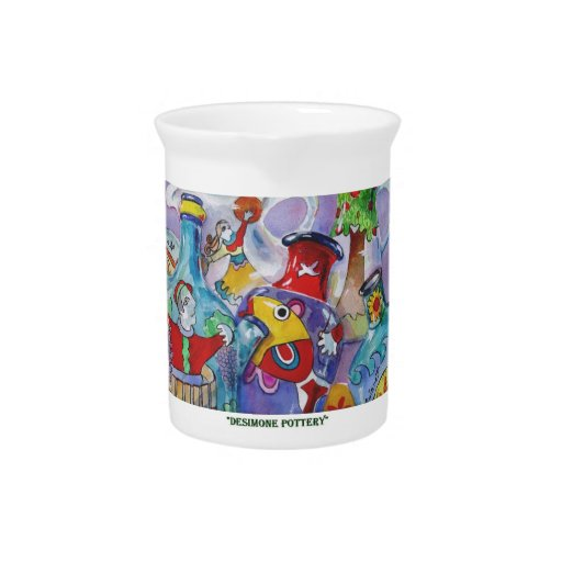Desimone Pottery Painting Beverage Pitchers