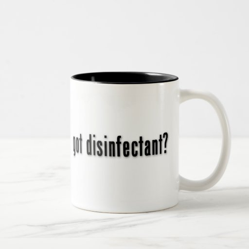 ¿desinfectante conseguido? taza de café