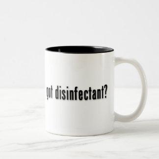 ¿desinfectante conseguido? taza de dos tonos