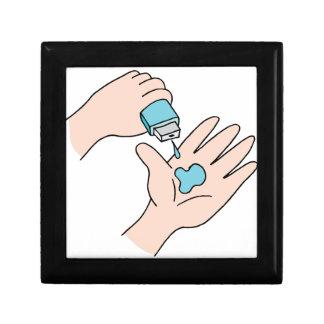 Desinfectante de la mano joyero cuadrado pequeño
