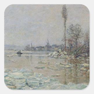 Desintegración del hielo, 1880 colcomanias cuadradases