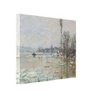 Desintegración del hielo - Claude Monet Lona Envuelta Para Galerias