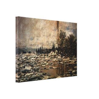Desintegración del hielo Lavacourt de Claude Monet Impresiones En Lona