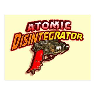 Desintegrador atómico tarjeta postal