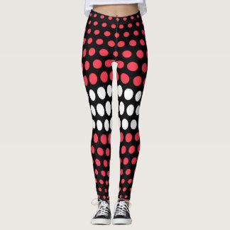Desire and White Polka Dot Pattern Leggings