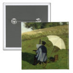 Desire Dubois Painting in the Open Air, c.1852 Pinback Buttons