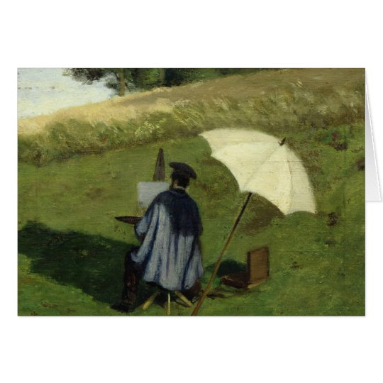 Desire Dubois Painting in the Open Air, c.1852 Card