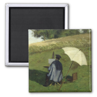 Desire Dubois Painting in the Open Air, c.1852 Magnet