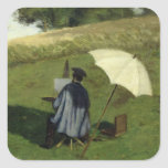 Desire Dubois Painting in the Open Air, c.1852 Square Sticker