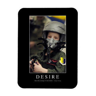 Desire: Inspirational Quote Magnet