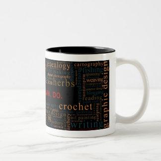 Desire. Learn. Do. (dark) Two-Tone Coffee Mug