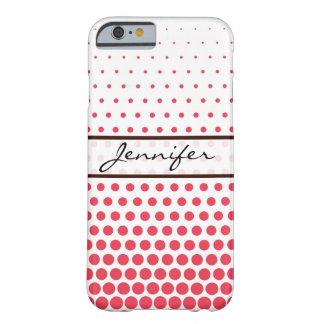 Desire Polka Dot Elegant Modern White Barely There iPhone 6 Case